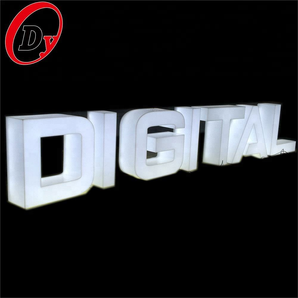 wholesale custom RGB led 3d acrylic whole lit channel letters large plastic alphabet letters