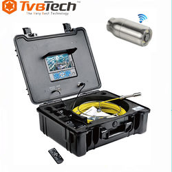 Underground Sewer Drain Pipe Inspection Camera with Meter Counter and Sonde CCTV Camera System