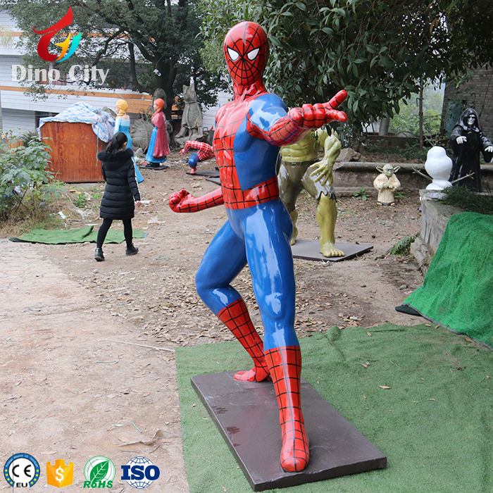 Customize Different Actions Life Size Spiderman Statue Model