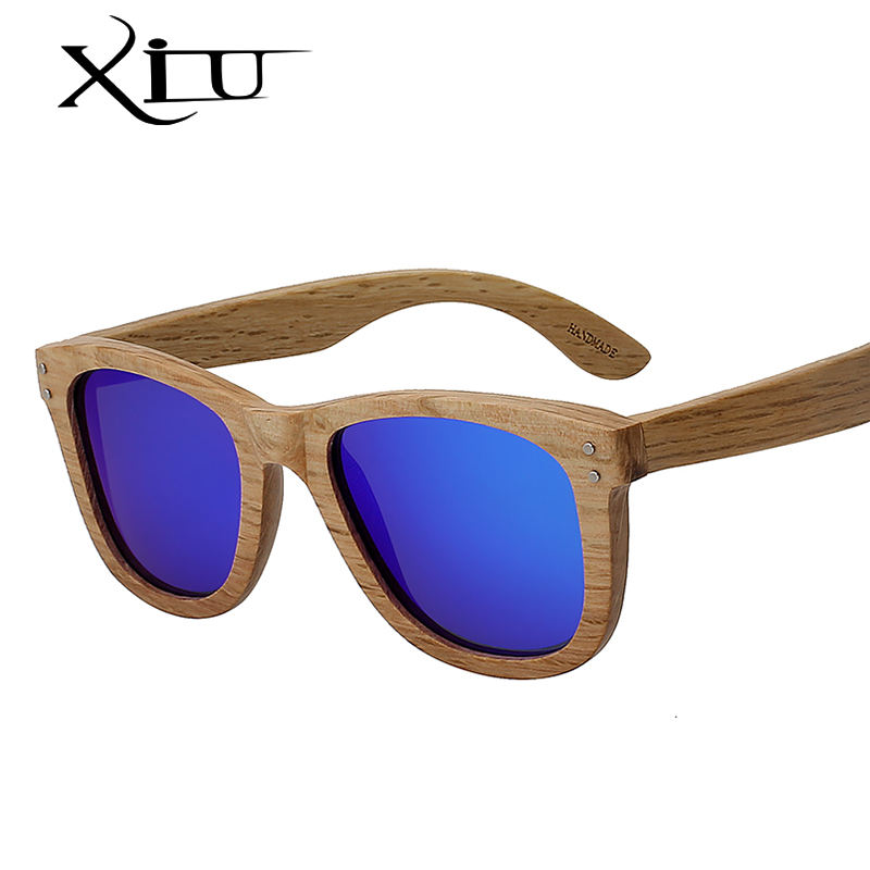 Fashion luxury custom polarized lens M nail full nature wood sunglasses