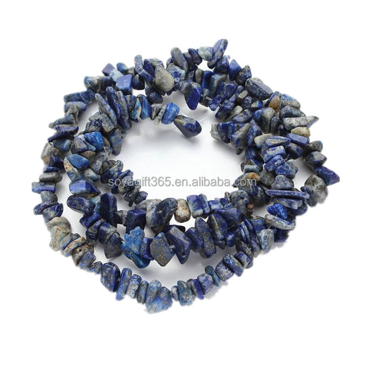 Blue Stone Chips 5-8 MM Irregular Shaped Loose Beads For Jewelry Making