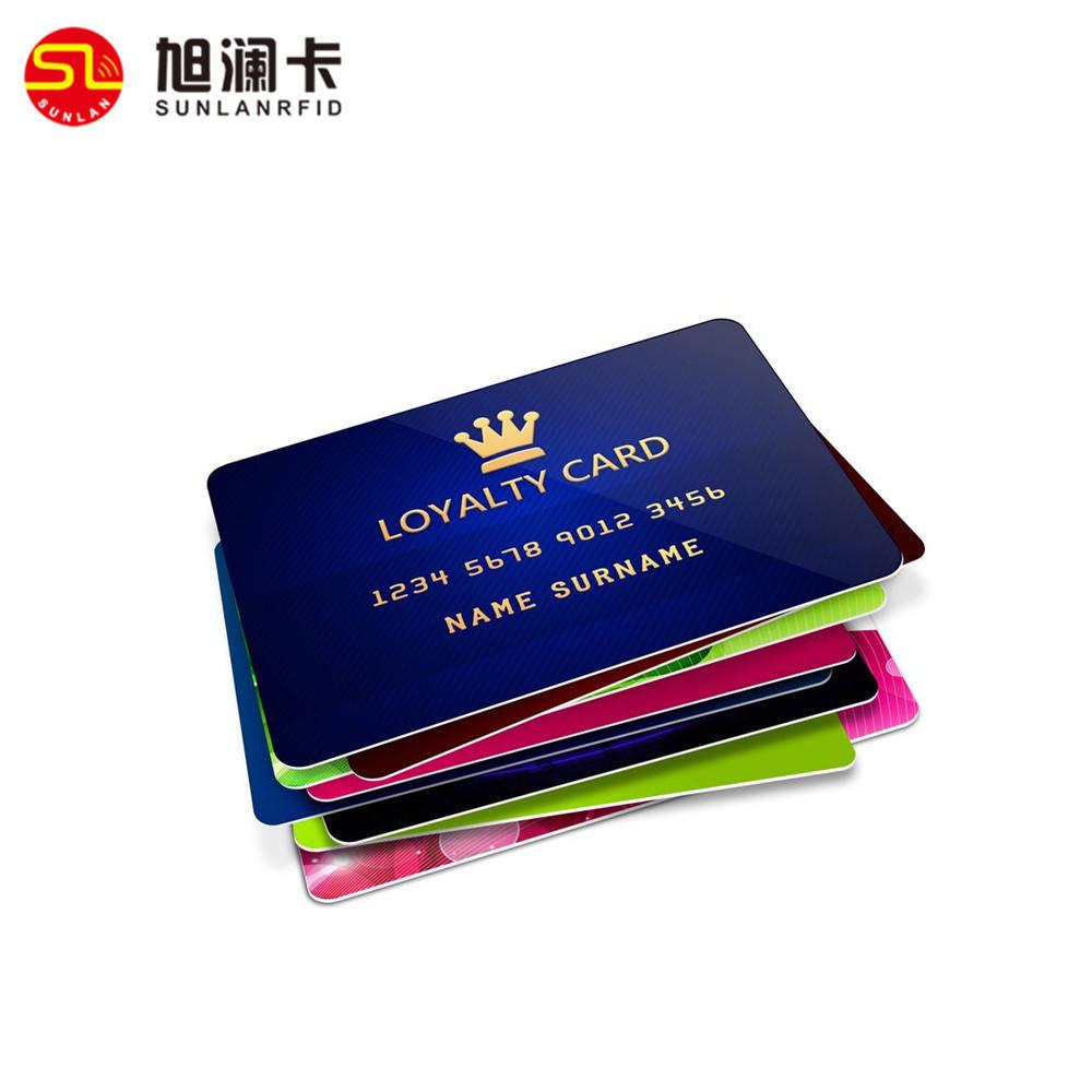 Personalizar pvc tarjeta VIP de plástico en relieve Tarjeta de fidelización con la impresión en color
