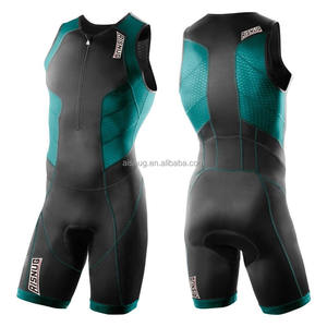 Kroad custom made triathlon wear lycra tri suit with rear back zipper