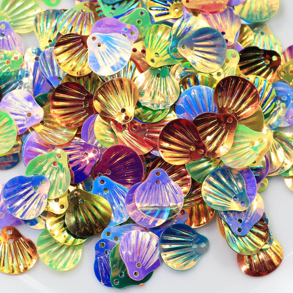 Factory Sale Iridescent Seashell Glitter Sequins Shells Nail Art Sprinkle Slime Supplies Confetti Wholesale Dress