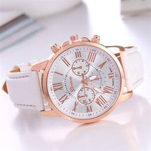 2018 OEM fashion women watch leather strip luxury wrist watch quartz bracelet factory price Ladies genuine leather watch