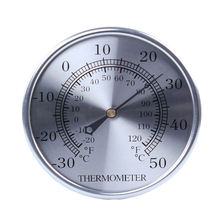Best Price Mini Analog Indoor Outdoor Bimetal Celsius Fahrenheit Coil Thermometer Clock