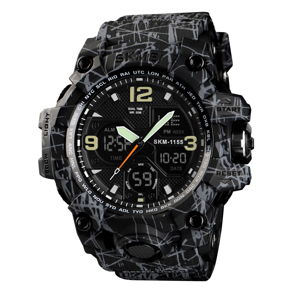 original factory guangzhou market digital waterproof sport skmei watch 1155