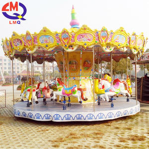 Amusement kids games 24 seats carousel kids funfair rides for sale