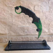Cool csgo karambit knife plastic game karambit trainer claw knife sharp karambit