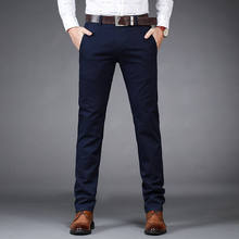 Plus size trousers casual trousers men slacks straight business menswear Winter thick trousers men's stocks wholesale