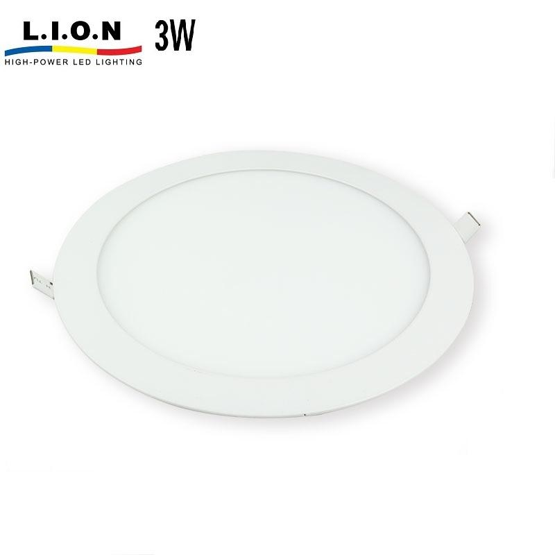 Liyin lighting indoor recessed smd round 3w led panel light