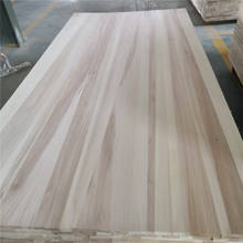 Factory price poplar wood panel solid wood