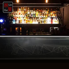 I shape illuminated pub cocktail led bar counter luxury