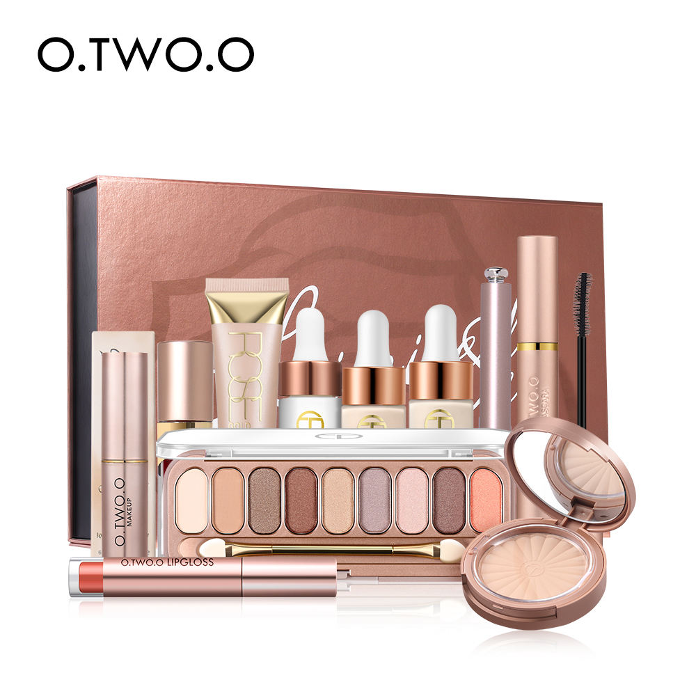 O.TWO.O CosmeticsLong-lasting Waterproof Pressed Powder Mascara Eyeshadow Palette Makeup Gift Sets