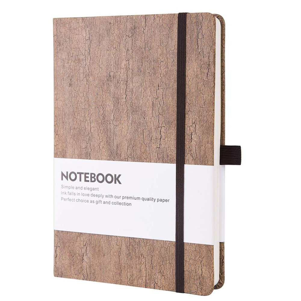 Custom Hot Selling Fancy A5 Hardcover Wood Cover Notebook Journals With Perforated Lines Page And Pen Holder