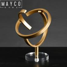 Mayco Modern Abstract Handmade Welded Metal Sculpture Interior Decoration