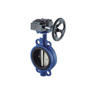 china supplier ggg40 high quality ductile iron center line wafer / flange butterfly valve