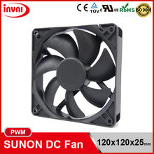 SUNON PWM 12025 120x25 120mm 120x120 120x120x25 mm Laptop PC 12V DC Axial Flow CPU Cooling Fan 120x120x25mm (EFC0251B2-Q000-S99)