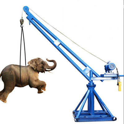 Nice Price 1000kg Mini Lifting Portable 360 Degree 12V Electric Small Crane Selling