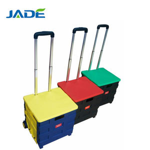 ABS plastic handle shopping trolley cart with wheel/Market and Commercial product collector shopping trolley smart cart