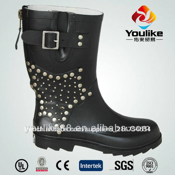 Hotsale yl8015 2013 femelle, bottes de pluie en caoutchouc