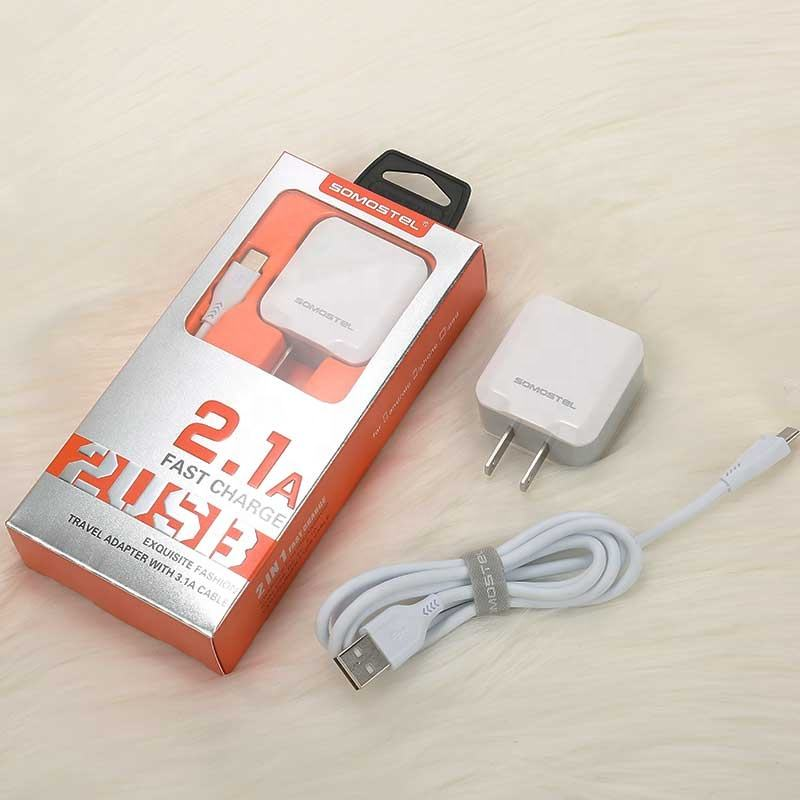 2-Port 5V 3.1A Smart Travel USB Charger Adapter Wall Portable EU US Plug Mobile Phone Charger for iPhone Samsung for Xiaomi