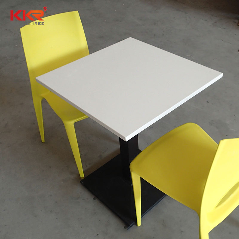 4 chairs solid surface food court table dining table and chair set