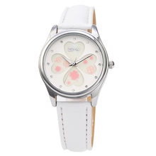 White new design fashion beautiful girls watch stainless steel leather watch hotting on sales summer series Reloj de dama