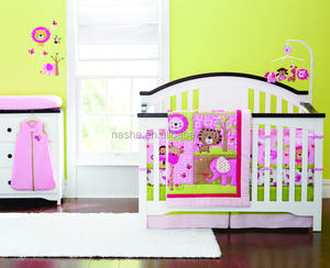 3-13 Piece Crib Bedding Set for Girl Baby Bedding Set with embroidery application