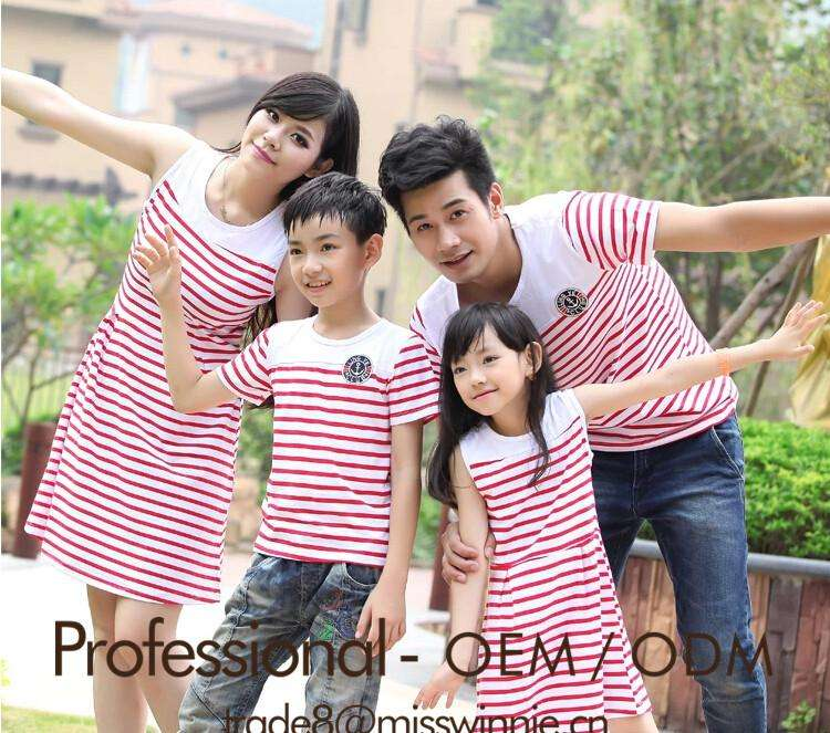 popular custom family set clothes latest family of four summer wear