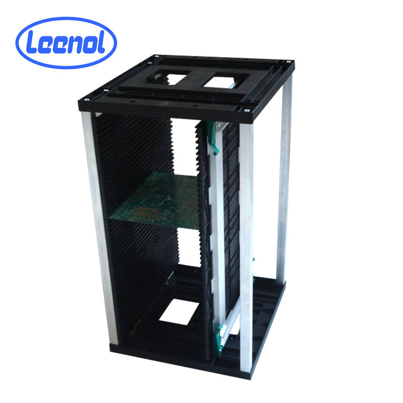 RoHS [ Pcb Storage Rack Racks ] Pcb Storage Racks LN-B804 Electronic PCB Storage Rack Adjustable Magazine SMT Racks