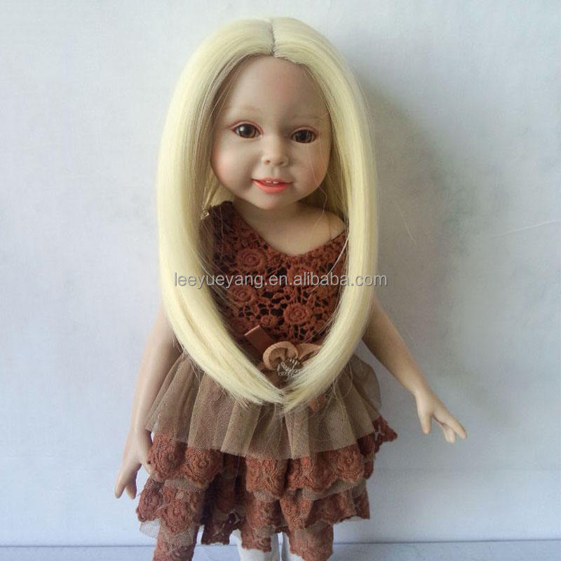 Brand New Natural Blonde Synthetic Hair Wig for 18'' Height American Girl Doll Bset Gift for Kids