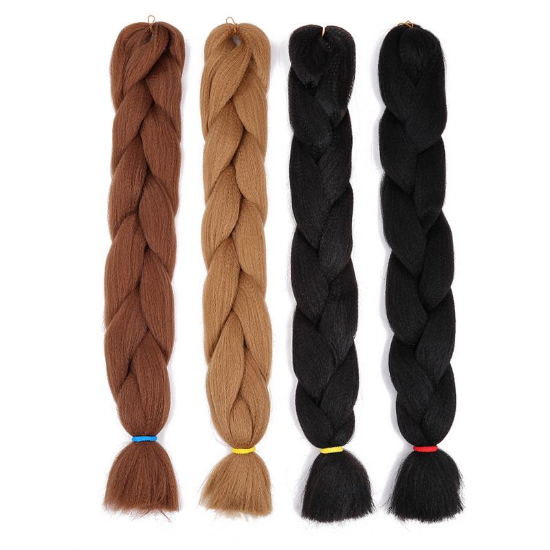 Jumbo Braid Coloured Hair Extensions Synthetische hitze beständige Masse