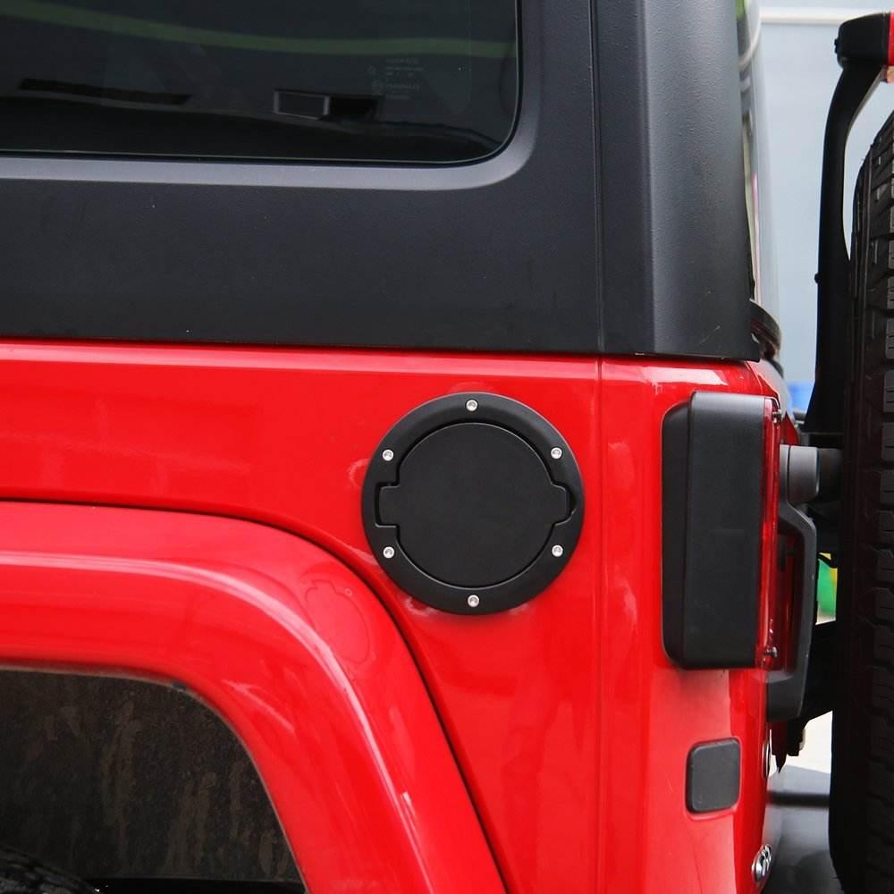 SXMA Fuel Filler Door Cover Gas Tank Cap Exterior Accessories For 2018 Jeep Wrangler JL Unlimited 2//4 Door
