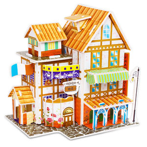 Imaginary Houses Creative Gift Children Educational DIY Toys 3D Puzzle Wholesale