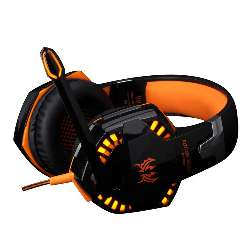 Fabrik Vibration Funktion Hohe <span class=keywords><strong>qualität</strong></span> KOTION JEDER G2100 Vibration Funktion Stereo Bass Gaming Headset mit Mic & LED Licht