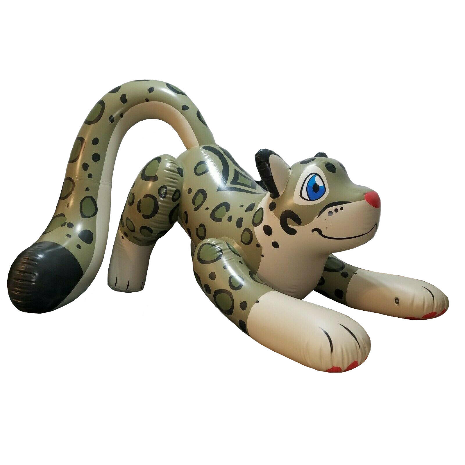3m Long PVC Inflatable Snow Leopard Animal with Puffy Paws