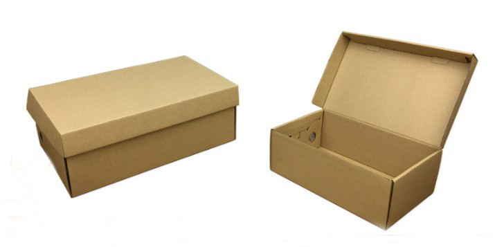 Durable pink black kraft color shoes paper boxes in stock