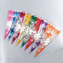 Custom Printed Clear Plastic Cone Bags Party Sweet Cello Candy Bags