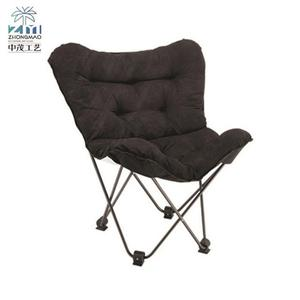 Garden leisure comfy cheap lightweight folding nordic office metal iron frame indoor butterfly chair