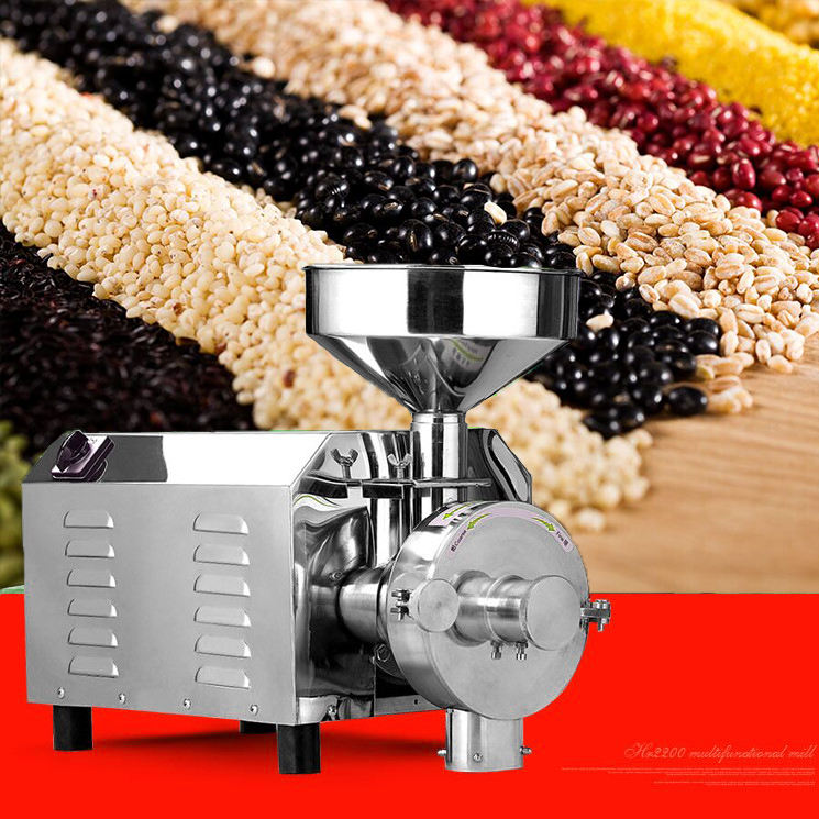 industrial small grain home flour mill wheat milling machine commercial grinder coffee chili pepper grinding machine