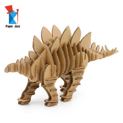 3D Cardboard puzzle Stegosaurus for home decoration