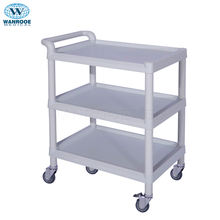 Good quality With Siderails and drawer ABS Instrument Trolley Utility  Cart