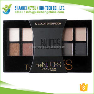 2018 12 warna eyeshadow oem, eyeshadow berlian, alami warna nudes eyeshadow palette