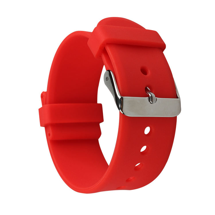 Fitness Waterproof Natural Silicone Rubber Watch Band Strap