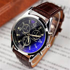 2018 new watches men YAZOLE 271 blue glass quartz stainless steel back 3atm waterproof leather wristwatches