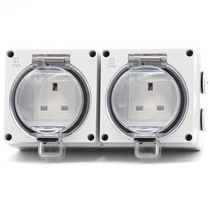 High Quality Waterproof IP66 switch socket with Waterproof cover for outdoor