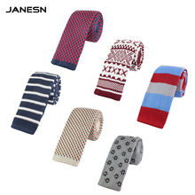 Wholesale New Design Casual  Skinny Tie 100% Polyester Knitted Necktie For Men's