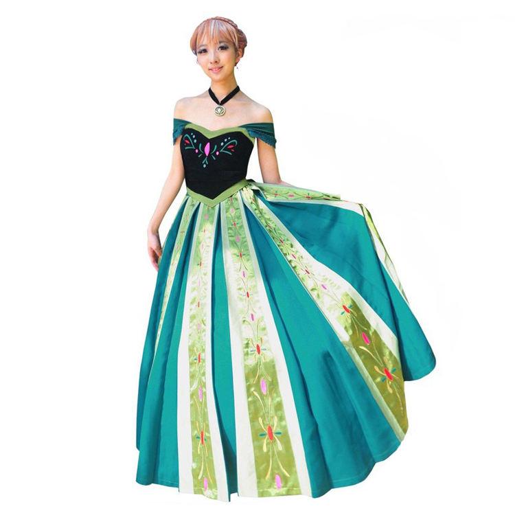 新しいスタイルドレス冷凍用大人エルザプリンセスドレス卸売コスプレ衣装