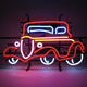 red led neon car advertising hanging neon sign logo china custom neon light sign cheap